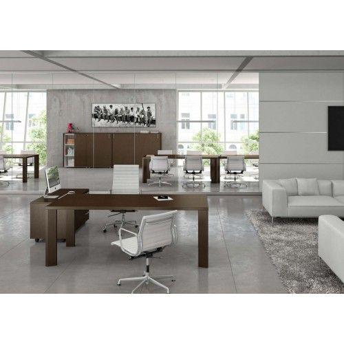 Composizione completa ufficio direzionale serie OFFICE gamba Legno - Serie OFFICE - Ufficio Direzionale - Tavoli/Scrivanie/Mobili - Castellani Shop