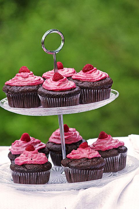 Schoko-küsst-Himbeer Cupcakes 7