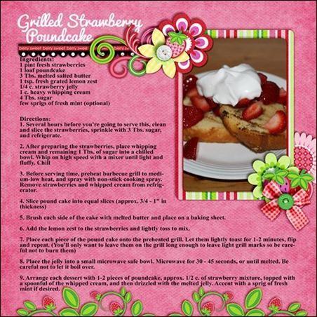 Rainbow Gospel Radio | Grilled Strawberry Poundcake