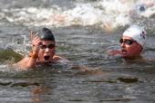 Eva Risztov, Hungary, GOLD MEDAL, Haley Anderson, USA, SILVER MEDAL, Women's Marathon 10km Swimming  View image detail