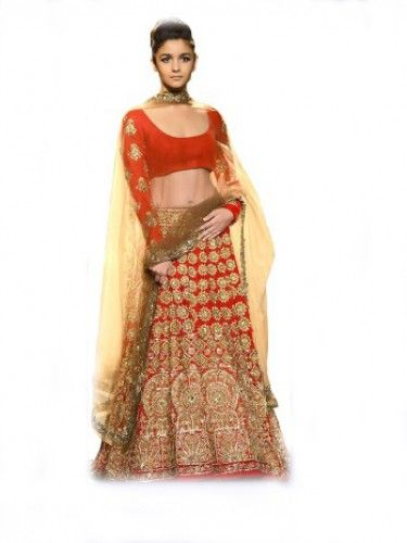 Aliya Bollywood Lehenga In Red Colour. Shop Online for Best Lehenga Collection Only at Godomart.com