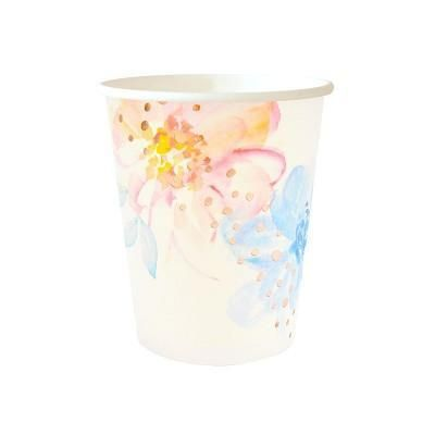 Let's Party With Balloons - Floral Paper Cups | Illume Design, $11.00 (http://www.letspartywithballoons.com.au/floral-paper-cups-illume-design/)