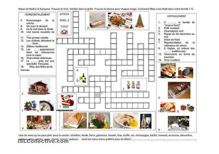Les 90 meilleures images du tableau mots crois s sur pinterest cours de fran ais fran ais et - Jeux de cuisine en francais ...