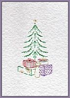 Xmas Wishes & Gift Tree from Prick 'n Stitch Card Designs