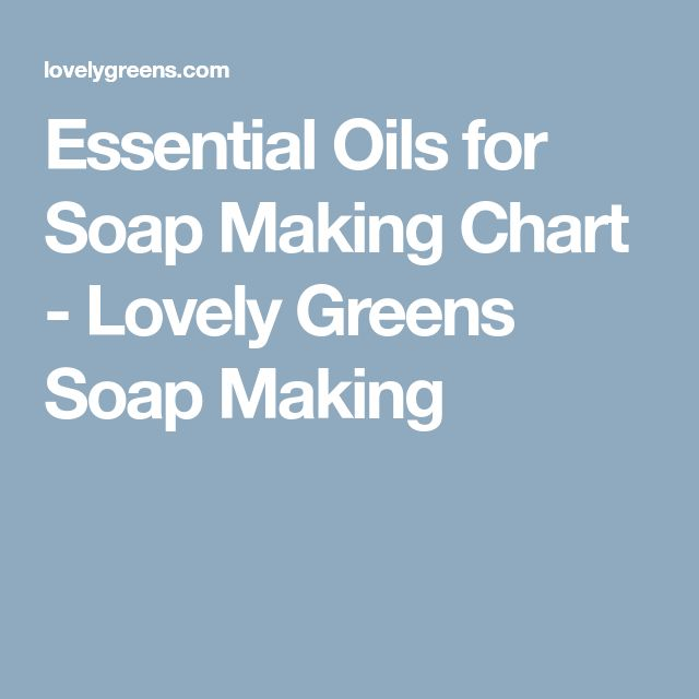 Essential Oils for Soap Making Chart - Lovely Greens Soap Making