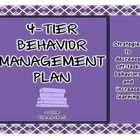 Classroom Management: Four-Tier Behavior Management Plan, Grades 6-12