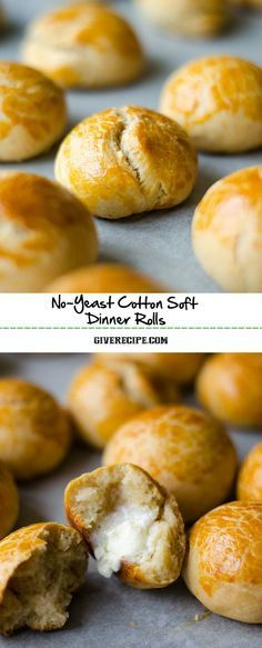 These Soft Dinner Rolls have no yeast. They have 3 secret ingredients that make these cotton soft and fluffy. These are ready just in 30 minutes!   giverecipe.com