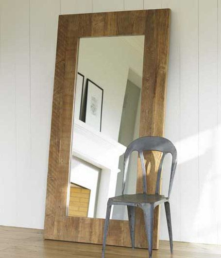 A floor mirror would be great to reflect light make the for Cool framed mirrors