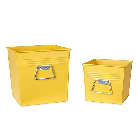 Household Essentials Decorative Metal Bins Are A 2 Piece Set Of Decorative  Metal Storage Bins With