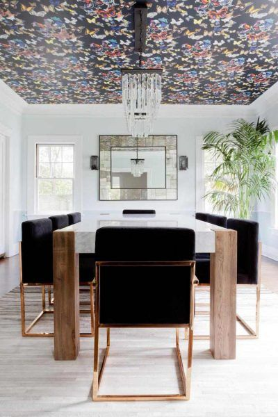 New Ceiling Wallpaper Trends 2018 2019 Kitchen Table Wallpaper