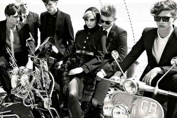 Motorcycle Babe Captures - The Vogue Italia August 2011 Editorial Features Classic Outcast Gangs (GALLERY)