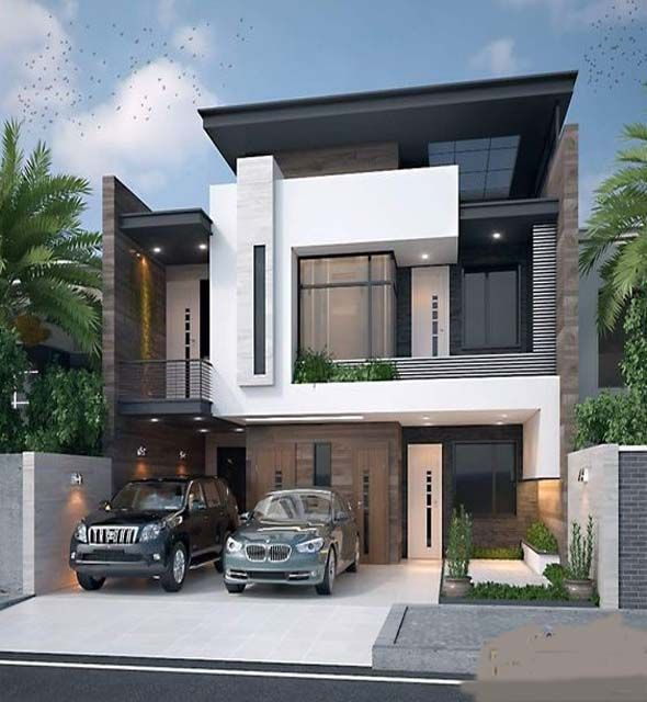 Simple House Architecture And Design In Modern Style House Design House Architecture Design Bungalow Interiors