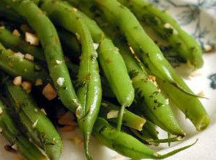Steamed Green Beans with Almonds - Very good, but I will definitely use much less butter, and a little less oil next time.