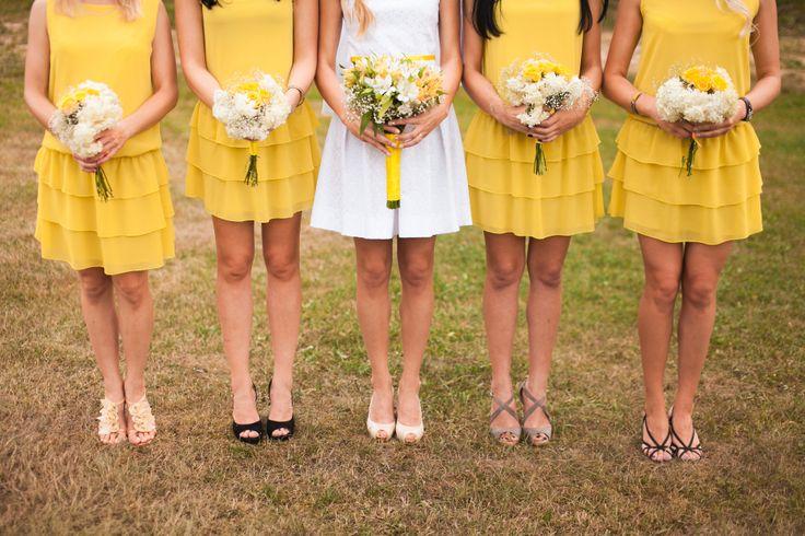 Sunny bridesmaids dresses!