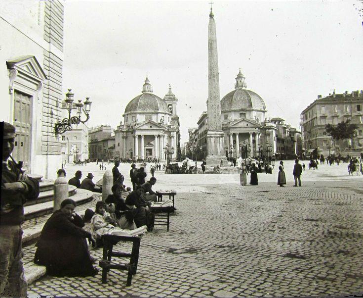 Roma, Piazza del Popolo nel 1890.