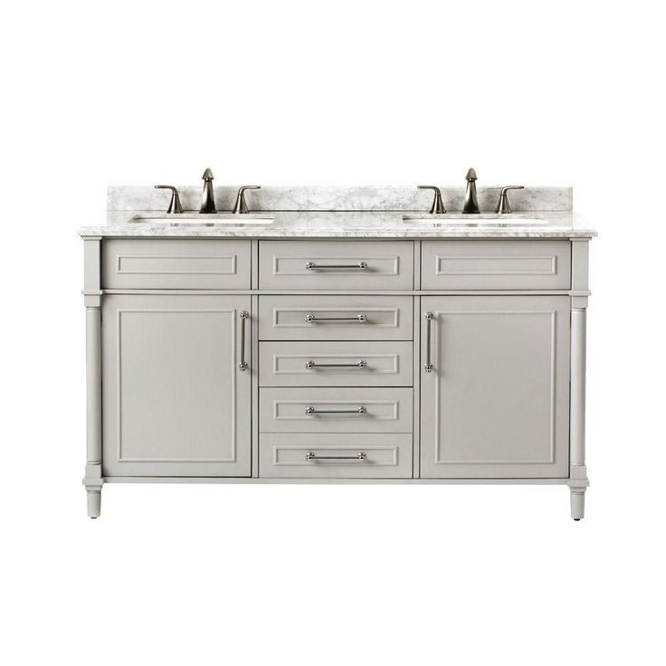 Home Decorators Collection Aberdeen 60 In W X 22 In D Double Bath Vanity In Dove Grey With