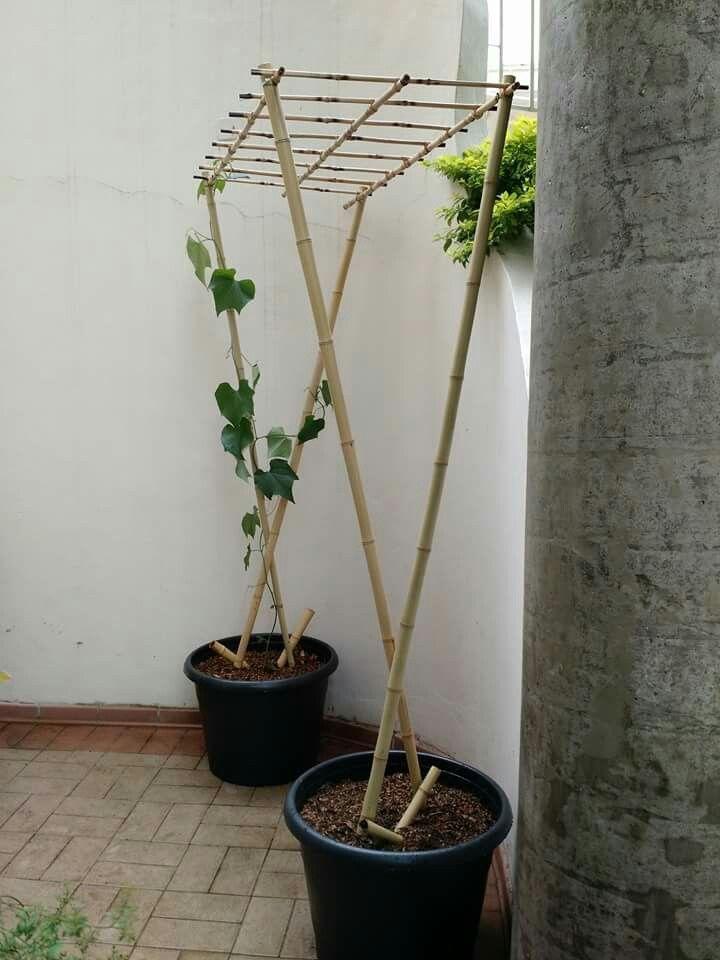 Sommerlicher Stil !! DIY !! Erstellen Sie eine kleine Pergola für Blumentöpfe #DIY #a #man # für …
