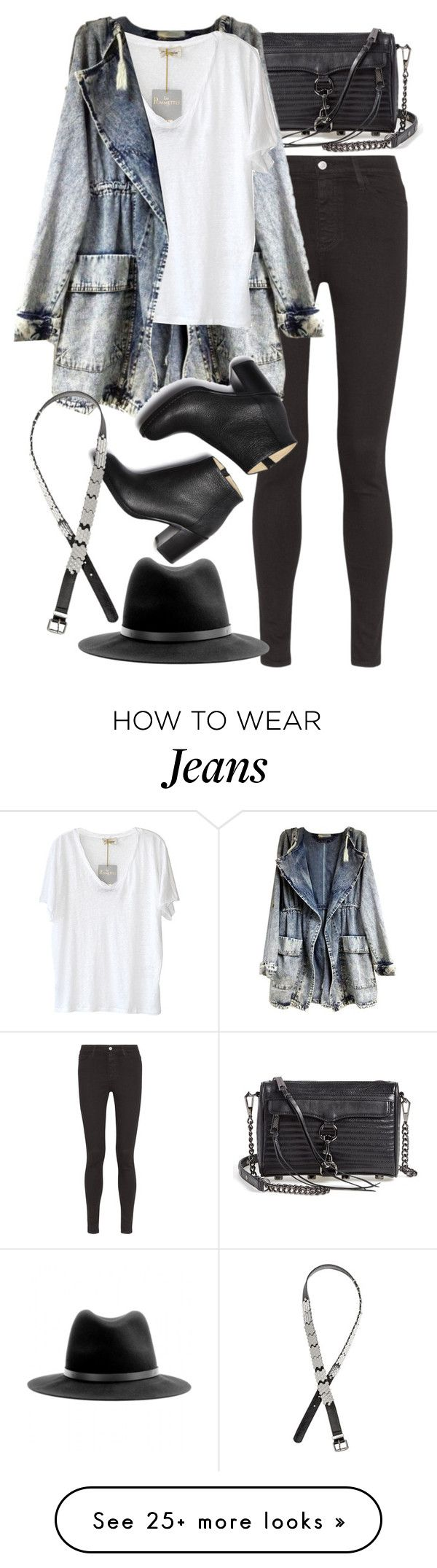 """Untitled #7592"" by nikka-phillips on Polyvore featuring AG Adriano Goldschmied, Rebecca Minkoff, American Vintage, Paul Andrew, H&M and rag & bone"