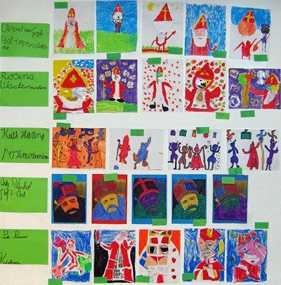 Sinterklaas, maar dan geinspireerd op het werk van kunstenaars