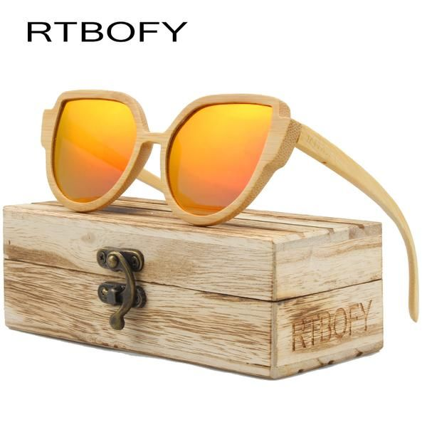 #FASHION #NEW RTBOFY Wood Sunglasses Women 2017 Brand Designer Cat Eye Sunglasses Wood Frame Lens Optical Polarized UV400 Sun Glasses…