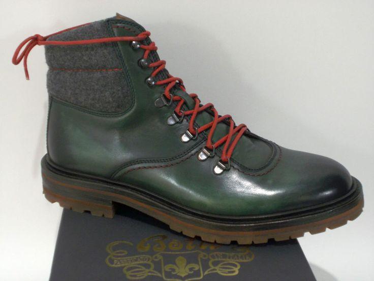 BOTTI scarpa uomo STIVALETTO vitello VERDE tg.6-8-8½(UK) / 40-42-42½(IT)  NIB