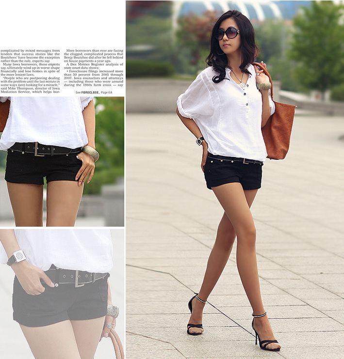 короткие женские черные шорты,  шорты короткие чёрные