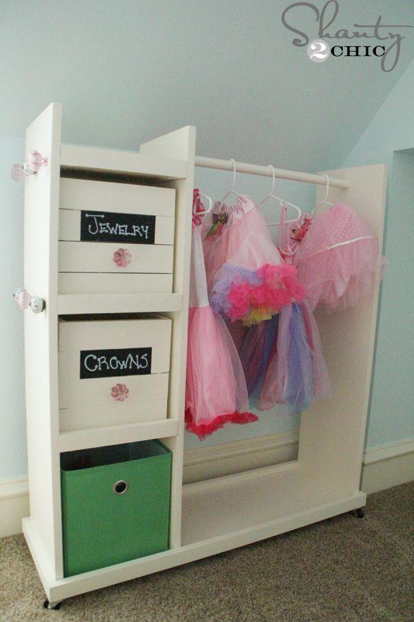 17 best images about dress up storage on pinterest kids clothing diy dress and dress up storage. Black Bedroom Furniture Sets. Home Design Ideas