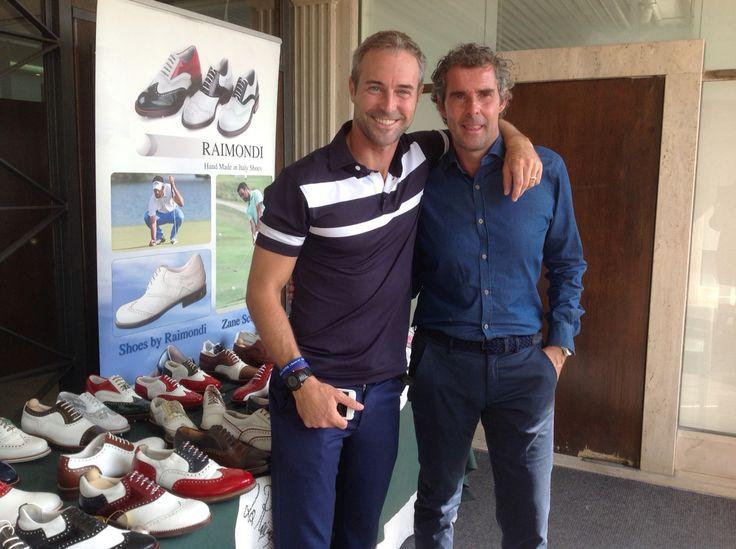 l'amico ed attore Flavio Montrucchio alla Raimondis Cup 2015 #Castelgandolfogolfclub #raimondigolfshoes #raimondi #madeinitaly #golfshoes