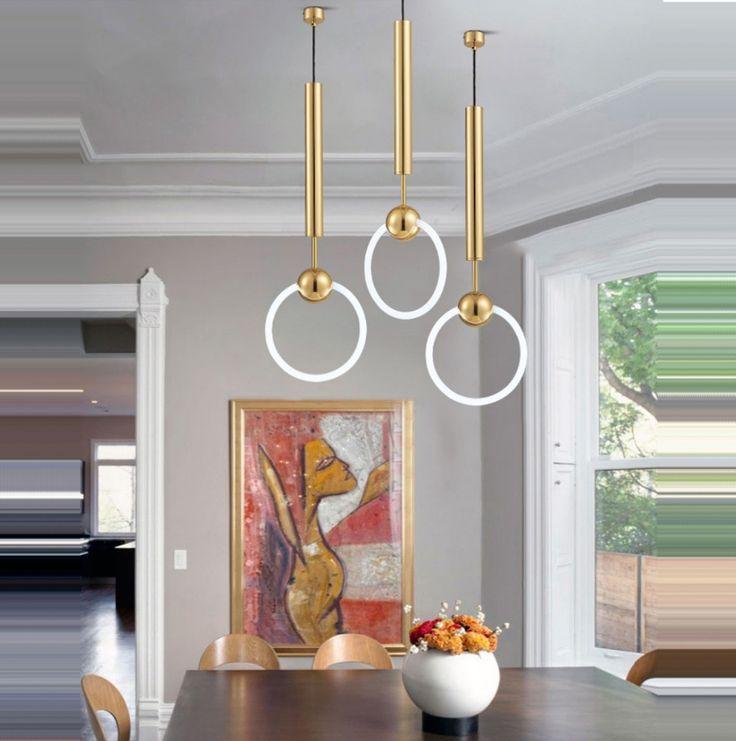 LED Nordic Postmodern Iron Designer LED Lamp LED Light Pendant Lights Pendant Lamp pendant light For Dinning Room Foyer Bar #Affiliate