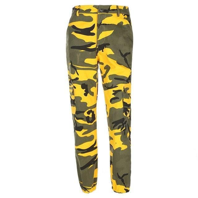 98d972f36780d Arrival Hip Hop Camo Pants Women Militray Camouflage Regular Pants Pocket  Girls Loose Jogger