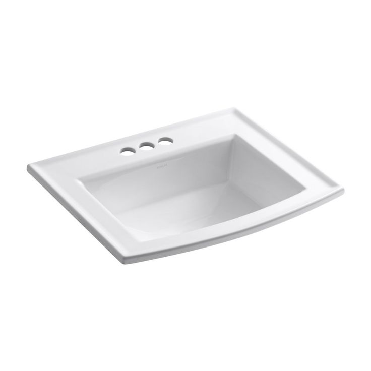Shop Kohler  K2356-4-0 Archer White Drop-In Rectangular Bathroom Sink at Lowe's Canada. Find our selection of drop in bathroom sinks at the lowest price guaranteed with price match + 10% off.