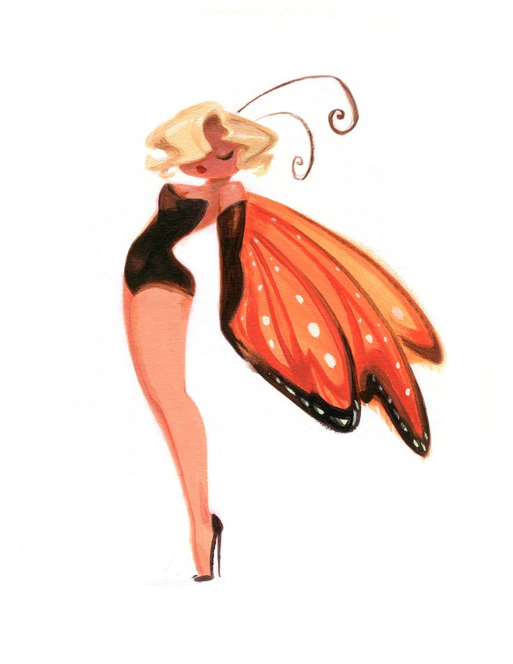 Casey Robin's sexy new LadyBugs series puts a buggy twist on the classic 50's pinup.     Marilyn Monarch is a blonde butterfly bombshell.