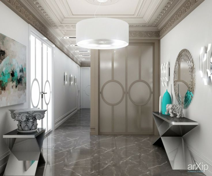Квартира: интерьер, прихожая, холл, вестибюль, фойе, квартира, дом, неоклассика, потолок, 20 - 30 м2 #interiordesign #entrancehall #lounge #lobby #lobby #apartment #house #neoclassicism #ceiling #20_30m2 arXip.com