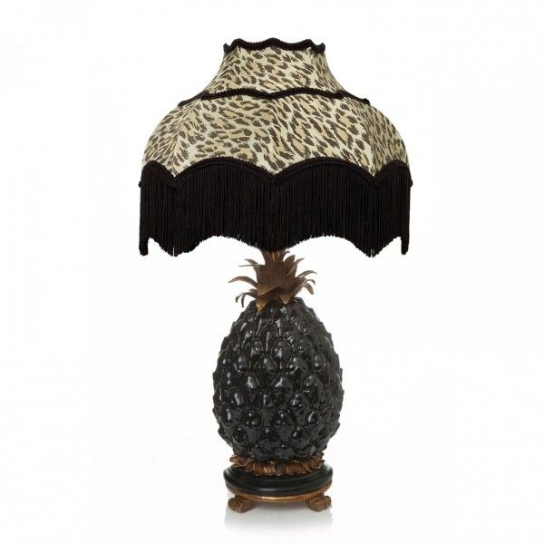 'ANANAS' Pineapple with ISABELLA 'Wild Card' Lamp Set - Black and Butterscotch