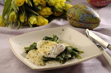 Fyldte æg med sennep, rogn eller hakket skinke