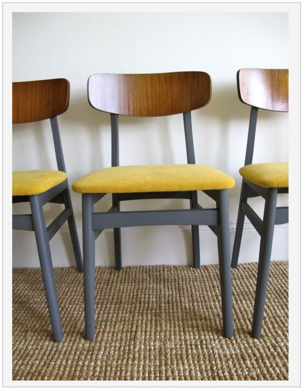 1960's dining chairs mustard