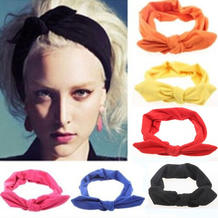Elastic Stretch Rabbit Bow Knot Styling Braid Hairdressing Tools Turban Headwear Hair Accessories For Woman Head Elastic Ring