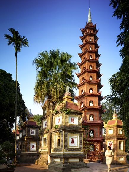 In a city with hundreds of temples and pagodas, the lofty Tran Quoc pagoda, dating to the sixth century, stands out.