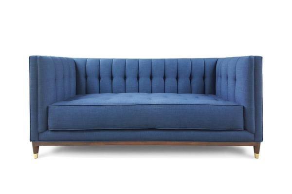 Affordable Diamond Tufted Tuxedo Sofa