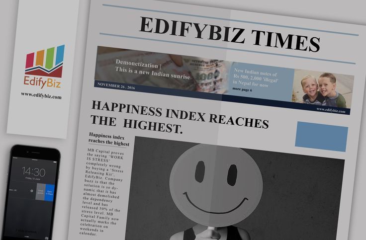 "Increase your Happiness Index by buying our ""Stress Releasing Kit""-- #EdifyBiz just like the company in this article. #EdifyBizTimes #PerksOfUsingEdifyBiz #HappinessIndex #CompleteBusinessSolution #GetSetGrow"
