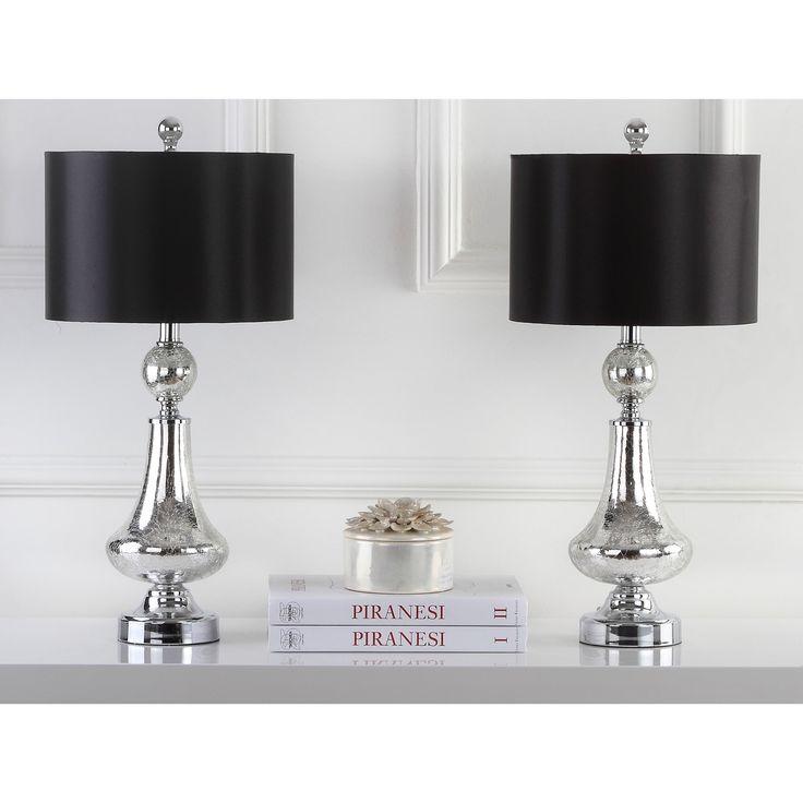 Safavieh Lighting 24-inch Mercury Crackle Glass Table Lamp