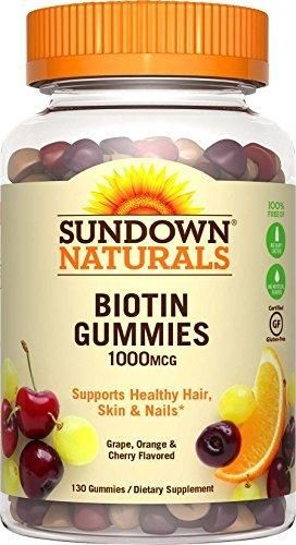 Sundown Naturals Biotin 1000 mcg 130 Gummies