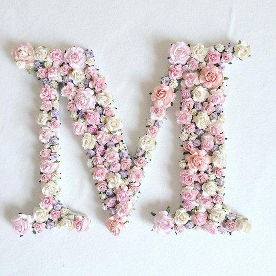 Aangepaste volgorde floral brief //baby door AnnekajamBabyArt