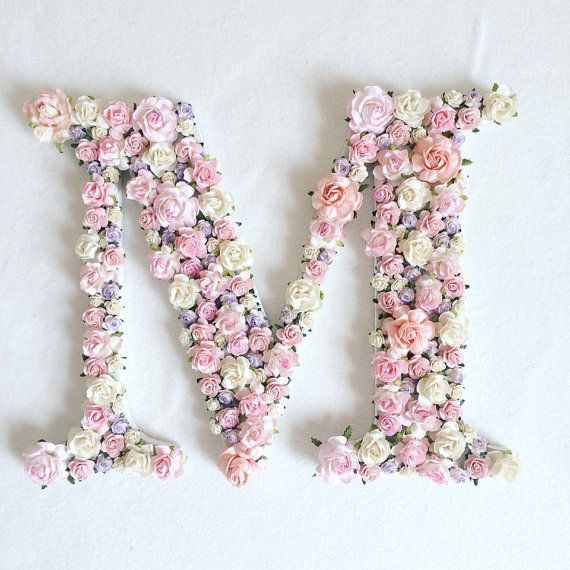 Custom order floral letter //baby shower gift// wedding decor // home decor