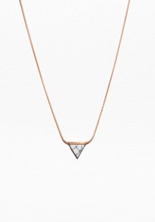 & Other Stories | Triangular Stone Necklace