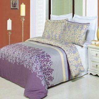 """Brielle Printed 8-Piece 100% Egyptian Cotton Bed in a Bag, Cal-King by Royal Tradition. $159.99. 1- King/Cal-King Down Alternative comforter (White) 106x90"""" filled w/60oz of down-alternative Fiber. 4- Piece WHITE Sheet Set (100% Egyptian cotton , 300 Thread count), Includes.... Cal-King 8-PC bedding set includes: 1- King/Cal-King comforter cover 90x92"""", 2- shams 20x36"""" ea.. Colors are combination of Mauve, Tan Beige, White and Gray. Machine washable in cold wate..."""