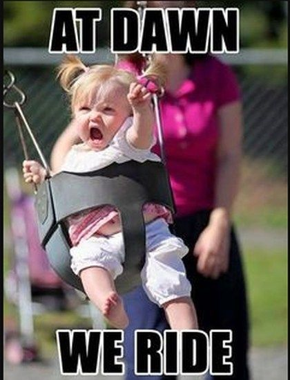 At Dawn We Ride The Most Amazing Funny Meme Hilarious Baby Memes