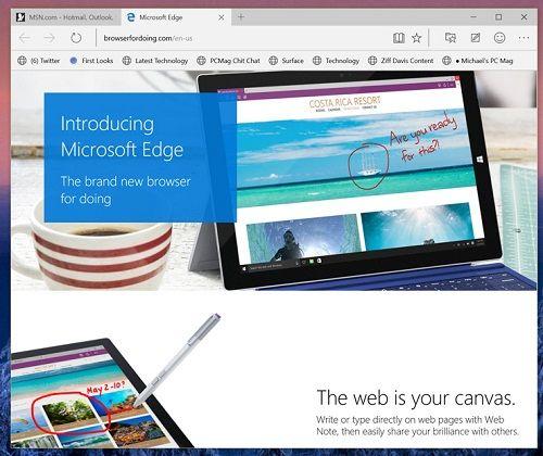 Coba Edge browser baru