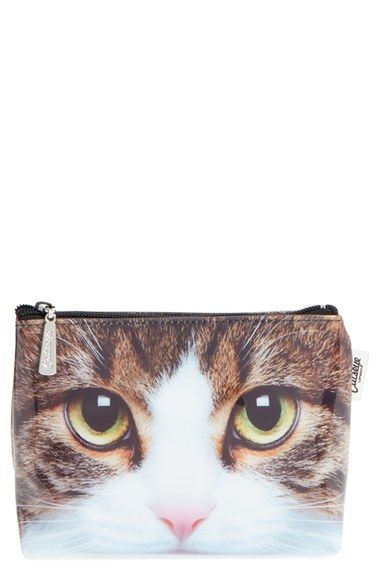 Catseye London 'Tabby Cat' Small Cosmetics Bag available at #Nordstrom