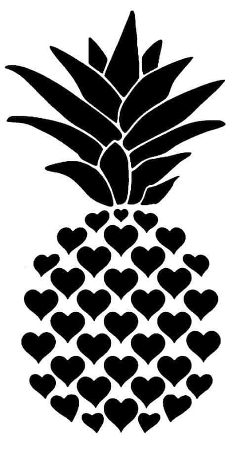 pineapple svg stencil silhouette cameo projects designs